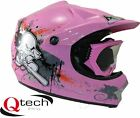 Kids CHILDRENS Motocross Ninja HELMET & GOGGLES Off Road PINK