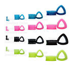 1 x Triangle Silicone Flexible Double Flared Tunnel Ear Lobe Plug Flesh Teardrop