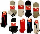 3 PAIRS MENS PUMA TRAINER / QUARTER SPORTS SOCKS, VARIOUS COLOURS, YOU CHOOSE