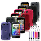 S LINE GRIP GEL CASE for HTC SENSATION / XE + SCREEN PROTECTOR & STYLUS PEN