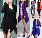 Uneven Hem Soft Waterfall Open Cardigan Long Sweater Coat Top T106