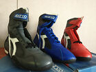 NIB Sparco Daytona Leather Driving Shoes Red Sizes EU 42 / 43 / 46 / 47 Nomex