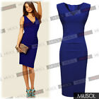 Womens Ladies Sexy V-Neck  Evening Ball Cocktail Dresses UK Size 8 10 12 14