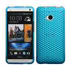 New Design Silicone Gel Diamond Case Cover Skin for HTC One M7