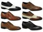 Gucinari Mens Leather Lace Up Brogue Formal Evening Shoes Black/White/Tan/Red