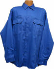 Wrangler   Long Sleeve   Bright Blue   Two Pocket     Work Shirt