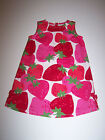 NWT CRAZY 8 STRAWBERRY PRINT SLEEVELESS DRESS 100% COTTON