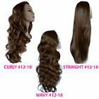Ladies 3/4 WIG Half Fall Clip In Hair Piece Light Chocolate Brown #12/18
