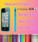 NEW STYLISH LUSH BUMPER GUARD CASE COVER FOR APPLE IPHONE 4 4S BUY 2 GET 3 OFFER