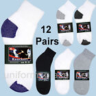 12 pairs Mens Womens Sport ANKLE SOCKS Colors ATHLETIC Cotton low 9-11 / 10-13