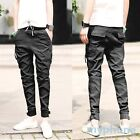 Korean Design Boy Slim Denim Jeans Men Skinny Pencil Straight Fit Pants Trousers