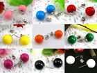 Lady Women Lovely Candy Colourful Disco Round Ball Earrings Ear Studs Wholesale