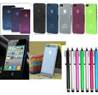 Ultra-Thin Glossy Hard Case Cover Shell For Apple iPhone 4 / 4S / 5 th + Stylus