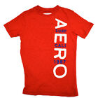Aeropostale Mens Tshirt Tee Aero Applique and Embroidery Graphic xs Red V221