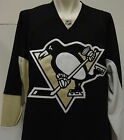 NEW Mens REEBOK Pittsburgh PENGUINS Black CCM NHL Edge Hockey Jersey 7187