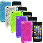 For iPod Touch 4th Gen 4G 4 TPU Zebra Color Rubber Skin Case Cover