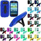 For Samsung Galaxy S3 S III Phone Hybrid Heavy Duty Hard/Soft Case Cover Stand