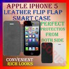 LEATHER FLIP FLAP SMART COVER for APPLE IPHONE 5 MOBILE CASE POUCH CONVENIENCE