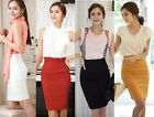 Womens Fitted Business Bodycon Short Career High Waist Pencil Skirt XS S M L XL