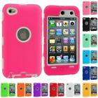 FOR IPOD TOUCH 4 4TH GEN+PROTECTOR DELUXE 3-PIECE HYBRID HARD/SOFT CASE COVER