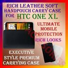 RICH LEATHER SOFT CARRY CASE for HTC ONE XL HANDPOUCH COVER POUCH PROTECTION NEW