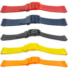 Swatch Resin Watch Strap Black White Red Transparent Blue Yellow 14mm 17mm