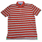 Tommy Hilfiger Mens Polo Shirt Classic Fit Striped Red White Casual Th Logo V087