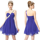 One Shoulder Chiffon Ruffles Ever Pretty Women's Bridesmaid Short Dresses 03321