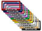 Queen Bee - Bumble Bee License Plate Tag Frame - Colors