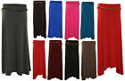 Ladies New Long Gypsy Jersey Belted Maxi Skirt A Line Uneven Hem Dress Size 8-14