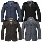 Mens Blazer Marc Darcy Coat Jacket Velvet Patches Lined Formal Dinner Suit New