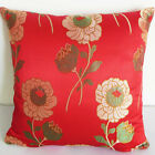 Cushion Cover Custom Made Chinese Brocade Case Red w L Flower cbscc-520