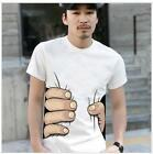 Funny Catching You Style Short Sleeve Casual T-shirt Korean Style