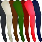 6 PAIRS GIRLS SCHOOL TIGHTS KNITTED WARM COTTON RICH – ALL COLOURS & SIZES!