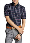 SD54 New Mens Fashion Casual Luxury Dress Slim Fit Short Sleeves Shirts 5 Size