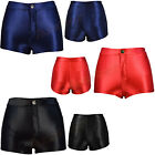 High Waisted Girls Shiny Stretch Disco Shorts Fashion Apparel Hot Pants Size6-14
