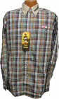 "Wrangler Plaid "" PBR "" Embroidery Western Shirt M to XL  NWT"
