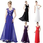 New Lace Cap Sleeves Chiffon Bridesmaid Formal Evening Dress Prom Gown 09867