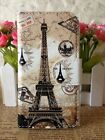 Nice Retro Brown Eiffel Leather Case for VARIOUS Sony Motorola Nokia Card Holder