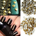 Gold & Silver Stud Nail Art 3D Design Decoration Mixed Shaped DIY Metallic Studs