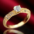 9K GOLD FILLED R142 WEDDING 1.0CT Created DIAMONDS ANNIVERSARY WOMENS SOLID RING