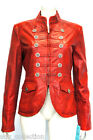 Rita Red Ladies Womens 'Military Style' Real Soft Sheep Wash look Leather Jacket