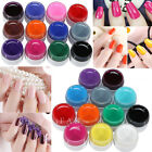 Nail Art 12 Pot Pure Colors Solid Builder UV Gel Set Salon Manicure Decoration