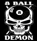 Pool T-Shirt 8 Ball Hustler T-Shirt Snooker  8 Ball Demon Skulls Head Original $16.05 USD on eBay