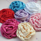 E195 Big Ribbon Flowers Sewing Appliques DIY Crafts Wedding Decoration 7/35PCS