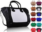 Ladies Leather Style Crossbody Studded Shoulder Satchel Bag Women Tote Handbag