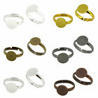 Metal Color Brass Ring Shanks Pad Jewelry Findings Adjustable Ring Pack of 50