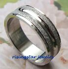 White Gold Tone Galaxy Stardust Stainless Steel Wedding Band Ring 10,11,12,14,15