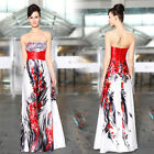 New Sexy Sequin Floral Printed Long Formal Evening Dress Halloween Costume 09971