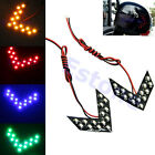 4 Colors 14 SMD LED Arrow Panels For Car Side Mirror Turn Signal Indicator Light
